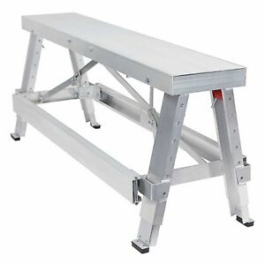 Professional Adjustable Height Drywall Taping Amp Finishing Walk up Bench 18in