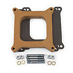 Edelbrock 8720 Carburetor Spacer 1 Open Spacer Wood Fiber Laminate