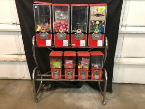 Bulk Vending Machine Rack 8 Machines Toy Gumball And Candy