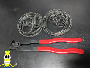 Auto Atv Cv Joint Axle Boot Clamp Pliers Tool With 20 Crimp Bands