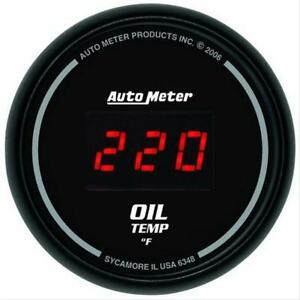 Autometer Sport Comp Digital Series Gauge Oil Temperature 2 1 16 Dia 6348