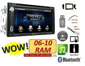 06 07 08 09 10 Dodge Ram Touch Bluetooth Cd Dvd Usb Double Din Car Stereo Radio