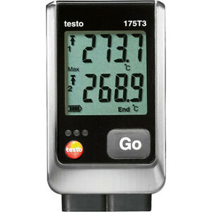 Testo 175 T3 2 ch Temperature Data Logger W Ext Thermocouple Type T And K