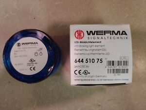 Werma Signaltechnik 644 510 75 Led Blinking Stack Light Blue