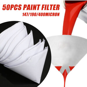 50x147 190 400 Micron Paper Paint Strainer Filter Purifying Straining Nylon Cup