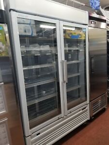 Nice Used Turbo Air 2 Glass Door Commercial Merchandising Freezer 46 2 Cubic Ft