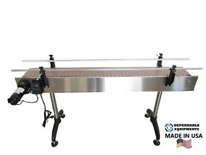 Dependable Equipments Conveyor 8 X 4 With Plastic Table Top Belt
