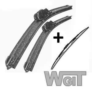 Wiper Blades Aero For Nissan Patrol Gq Series 2 Suv 1992 1997 Front Pair