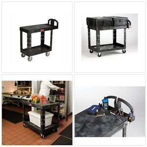 Utilit Cart Durable Plastic Wheeled Heavy Duty Light Weight Rolling Storage
