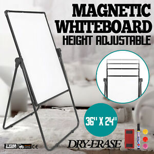 Mobile Whiteboard Magnetic Dry Erase Board 36 24 Single Sided With Stand