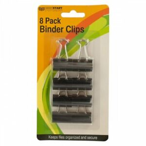 Wholesale Lot Of 24 Units Small Binder Clips 8 Per Pack Organize Paperwork Nice