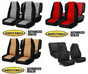 97 02 Jeep Wrangler Smittybilt Complete Front Rear Custom Neoprene Seat Covers