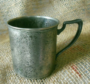 Sheffield Silverplate Hammered Child S Cup Marked Dab
