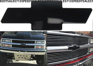 Black Billet Bowtie Grill Emblem For 1994 1999 Chevrolet C1500 K1500 Silverado
