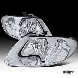 2001 2007 Dodge Caravan Chrysler Town Country Euro Crystal Clear Headlights