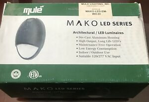 Mule Lighting White Mako Led Series Em Only Alum Housing Brand New
