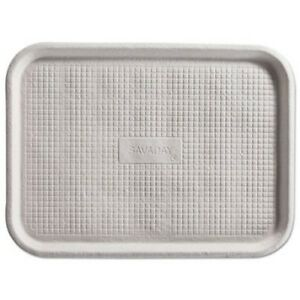 Chinet Molded Fiber Flat Food Tray White 12 X 16 200 Trays huh20803ct