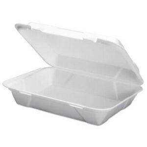 Genpak Foam Hoagie Hinged Container White 200 Containers gnpsn270
