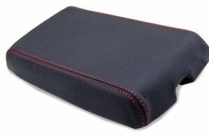 Console Center Armrest Leather Synthetic Cover For Camaro 82 92 Red Stitch
