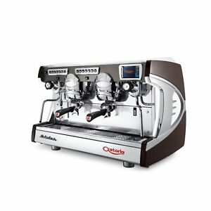 Astoria Sabrina Automatic Cool Touch 2 Group Espresso Machine Auto steam Brown