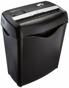 6 Sheet Cross Cut Paper Shredder Credit Card Destroyer Heavy Duty Home Business