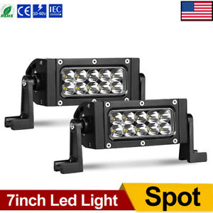14 Inch 200w Side Shooter Led Light Bar Tri Row Combo Offroad Driving Truck 4x4