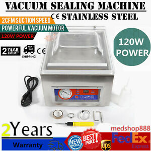Digital Vacuum Packing Sealing Machine Sealer 120w Chamber Commercial Fresh 110v