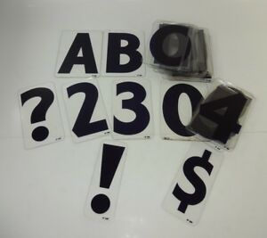 Used Set 42 Lot Blue Zip 6 Clear Plastic Marquee Sign Board Letters Numbers