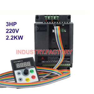Single Phase Variable Frequency Driver Inverter Vfd 3hp 2 2kw 5m Cable For Cnc