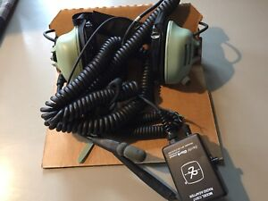 David Clark Headset H3441 With C3017 Radio Adapter For Fire Apparatus Etc Nos