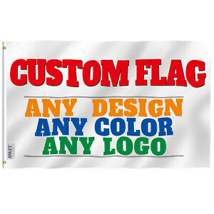 Anley Single Sided Custom Flag Print Your Own Design Customized Flag Polyester