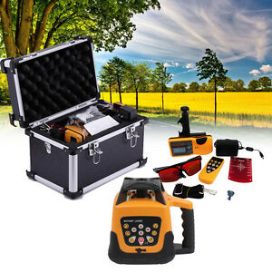 500m Range Red Beam Self leveling Rotary Laser Level Automatic Remote Control