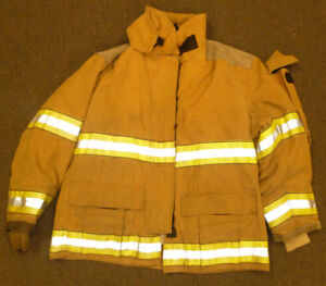 48x32 Firefighter Jacket Coat Bunker Turn Out Gear Globe J559