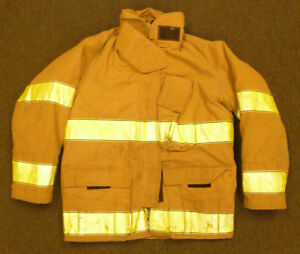 46x32 Firefighter Jacket Coat Bunker Turn Out Gear Globe J558