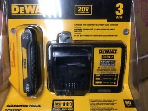 New Dewalt Dcb230c 20 volt Max 3 0ah Lithium ion Battery Pack With Charger