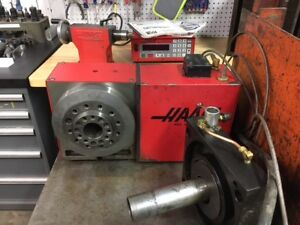 Haas Hrt A6 Rotary Table 17 Pin W tailstock Control pneumatic Collet Closer