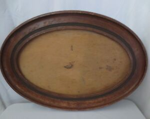Antique Vintage Oval Wood Picture Frame Large 33 X 23