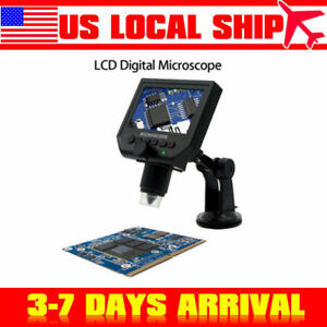 1 600x Portable 4 3 Usb Lcd Digital Microscope Led Light For Pcb Soldering
