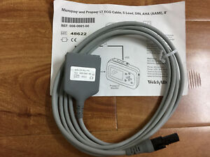 New Aami 6 Pin Ecg Cable 5 Lead Din Criticare Datascop Welch allyn 008 0881 00