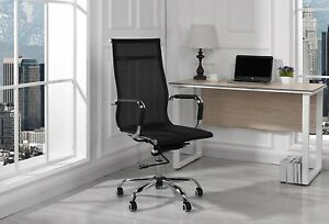 Modern High back Mesh Fabric Office Chair Conference Office Chair black