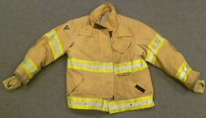 46x29 Firefighter Jacket Coat Bunker Turn Out Gear Lion Apparel Janesville J613