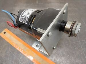 Bodine Nci 11 D4 Electric 1 90 Hp 115 Vac Motor 17 Rpm Dc 22 Lb in Gear Motor