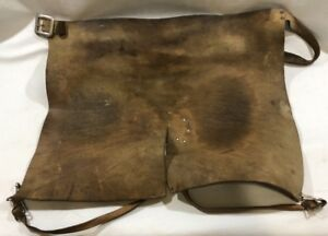Vtg Leather Shop Lap Apron Safety Welding Woodworking Fabrication Carvers 34 45