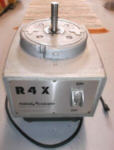 Robot Coupe R4x Commercial Food Processor Motor Base Used Working Condition