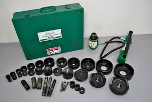 Greenlee Tools 7310 Hydraulic Knockout Punch Driver Set Conduit 1 2 4 Extras