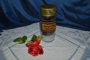 Antique Jar Apothecary Pharmacy Pimpinella Anisum glass Souffle