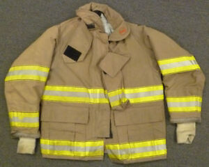 40x29 Firefighter Jacket Coat Bunker Turn Out Gear Globe Fire Gear J598