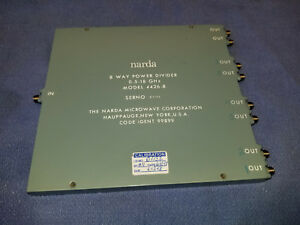 Narda 4426 8 8 way Power Divider 500 Mhz To 18 Ghz Free Shipping