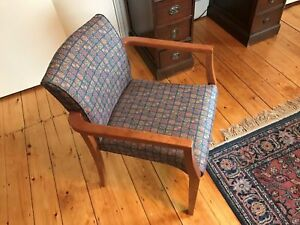 Waiting Room Chairs Matching Office Wood Wooden Gunlocke