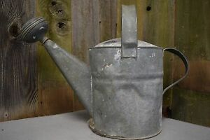 Antique Galvanized Watering Can With Two Handles 12 X 17